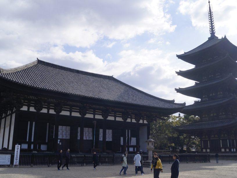 Tokon-do y la pagoda de 5 pisos de Kofuku-ji