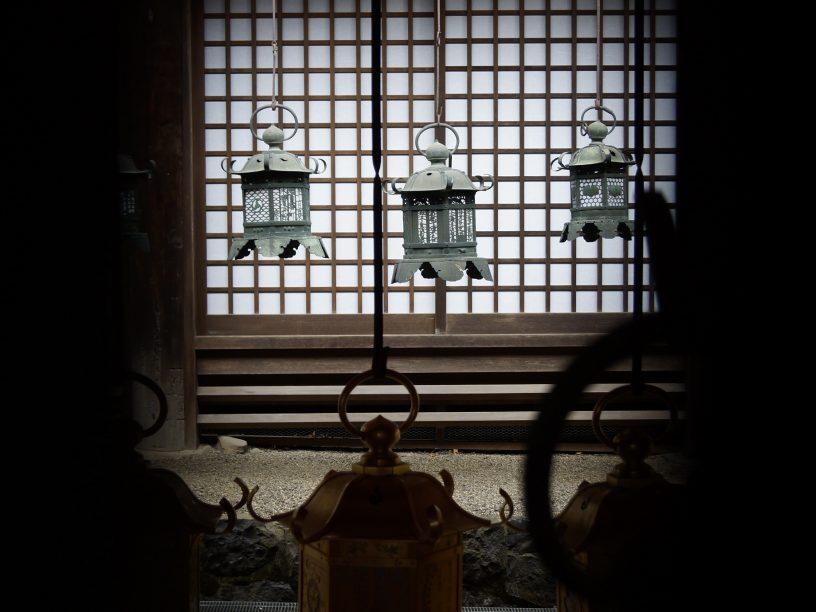Lamparas de bronce de Kasugataisha